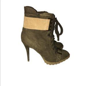 RACHEL ROY army green/tan ankle boot